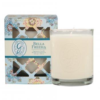 Свічка ароматизована в склянці Bella Fresia Greenleaf Бела Фрезія 270 г (19840902)