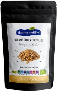 Насіння золотистого льону Healthy Tradition органічне 200 г (4820192430708)