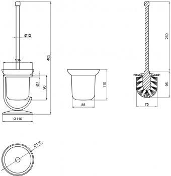 Йоржик для унітаза LIDZ (CRG)-121.05.03