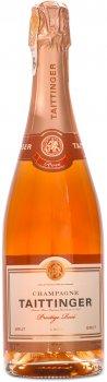 Шампанське Taittinger Prestige Rose рожеве сухе 0.75 л 12.5% в подарунковому дерев'яному футлярі (111112)