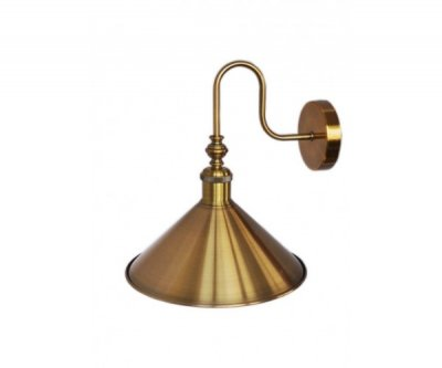БРА GLOCE CONE SHADE LOFT INDUSTRIAL METAL TALL GOLD