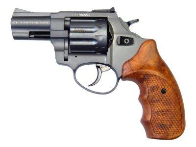 """Револьвер флобера STALKER 4 мм 2,5"""" титан (стальной барабан / коричневый пластик)"""