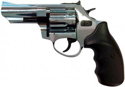 Револьвер под патрон флобера Ekol Viper 3 хром+черная рукоятка