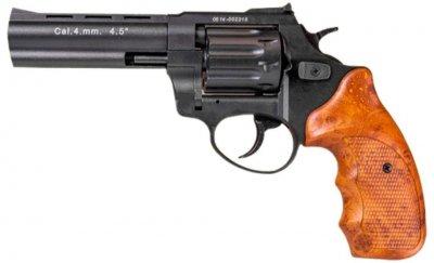 """Револьвер флобера STALKER 4 мм 4,5"""" черный (стальной барабан / пластик под дерево)"""