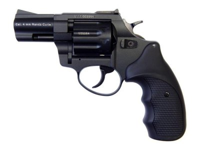 """Револьвер флобера STALKER 4 мм 2,5"""" черный (стальной барабан / пластик)"""