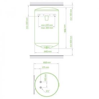 Водонагрівач Tesy Anticalc 100 л, 1,2 кВт GCV 1004424D D06 TS2R