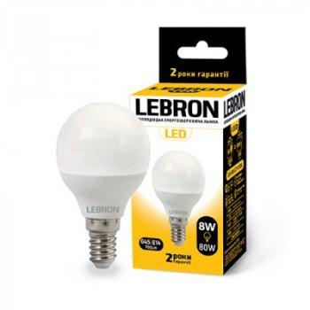 Лампа Lebron G45 8W E14 4100K