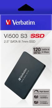 """Verbatim SSD Vi500 S3 120GB 2.5"""" SATAIII 3D NAND TLC (70022)"""