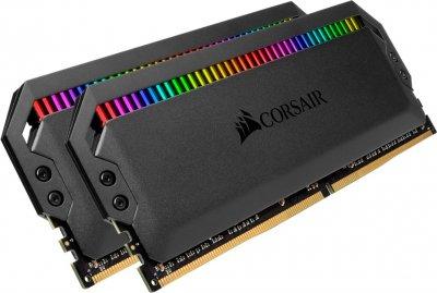 Оперативна пам'ять Corsair DDR4-4000 32768MB PC4-32000 (Kit of 2x16384) Dominator Platinum RGB Black (CMT32GX4M2K4000C19)