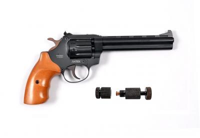 Револьвер под патрон Флобера Safari РФ 461 М бук + Обжимка патронов Флобера в подарок