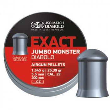 Кулі для пневматичної зброї JSB Exact Jumbo Monster 5.52 мм (200шт.) 1.645 гр.