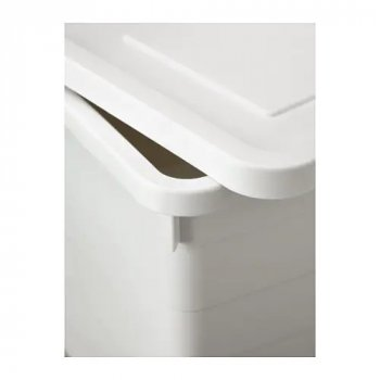Коробка з кришкою IKEA (ІКЕА) SOCKERBIT 38х51х30см біла (803.160.67)