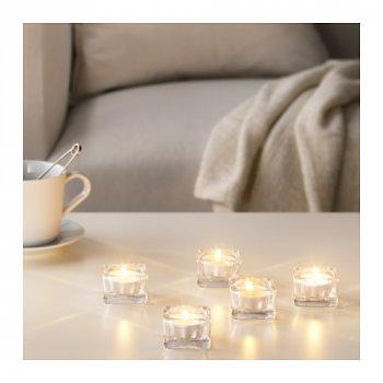 Набор ароматических свеч IKEA (ИКЕА) SINNLIG 30 шт ваниль бежевый (203.373.79)