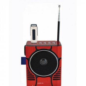 Радио портативная колонка MP3 USB Golon RX-188 MIC Red