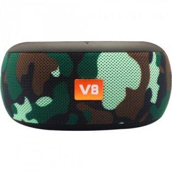 Портативная Bluetooth колонка с подставкой для телефона BRT V8 Камуфляж (47777)