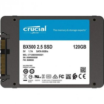 Накопичувач SSD 2.5 quot; 120GB MICRON (CT120BX500SSD1)