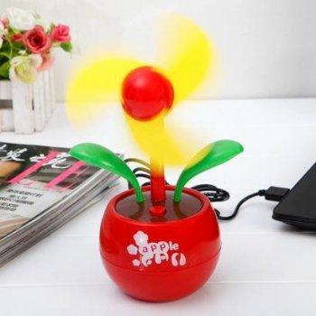 Настольный USB-вентилятор Supretto Цветок красный с желтыми лепестками (5157-0002) (2100000005157)