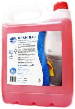 Бланидас - миючий засіб для ген.прибирання санітарних кімнат, 5 л