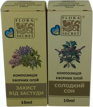Эфирные масла Flora Secret Пара домашняя 10 мл х 2 шт (4820112081102)