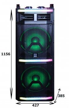 Активна акустична система Bluetooth з акумуляторів і підсвічуванням