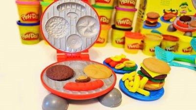 Игровой набор пластилин Play-Doh Бургер Барбекю В5521