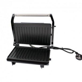 Многофункциональный гриль GRANT GT 781 1200W, Гриль закрытого типа, Электрогриль, Гриль для дома серебристый/черный