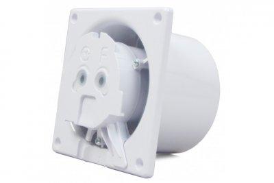 Вытяжной вентилятор AirRoxy dRim 100 HS BB Черный, с датчиком влажности и таймером.