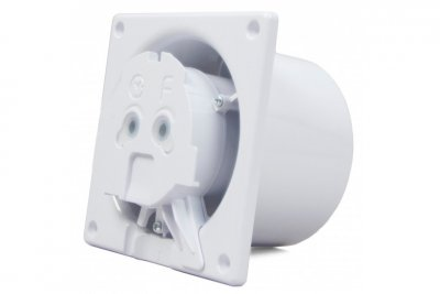 Вытяжной вентилятор AirRoxy dRim 100 HS BB Белый матовый, с датчиком влажности и таймером.