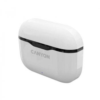 Bluetooth-гарнитура Canyon CNE-CBTHS3W White