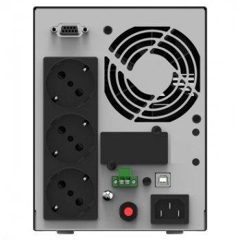 ДБЖ NJOY Echo Pro 1000 (UPOL-OL100EP-CG01B), Online, 3 x Schuko, USB, LCD, метал