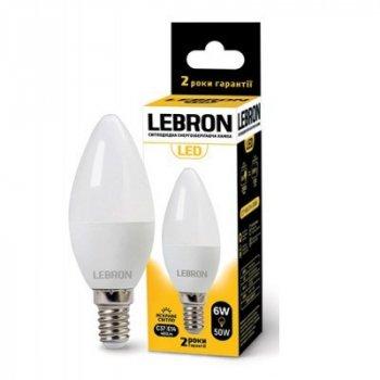 Світлодіодна лампа LEBRON 6W 4100K С37 220V E14
