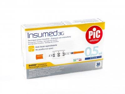 Шприцы инсулиновые Pic Solution INSUMED 0,5 мл с иглой 31G х 8mm