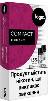 Картриджі Logic Compact Purple Mix для POD-систем 1.5% 2 шт. (Ягідний мікс) (14488903) (4820000537087)