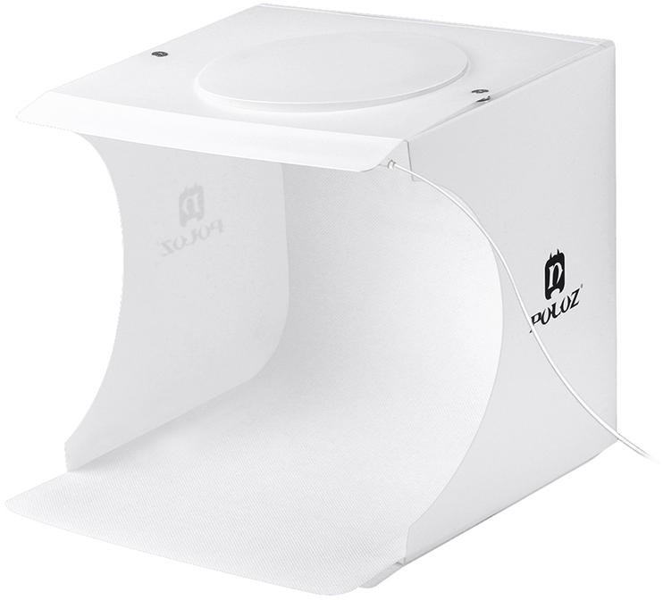 Лайткуб (фотобокс) для предметної зйомки Puluz PU5021 24 x 23 x 22 см Білий
