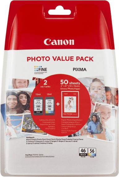 Комплект для друку Canon No.46 картридж PG-46 + картридж CL-56 + папір Canon GP-501 50 аркушів