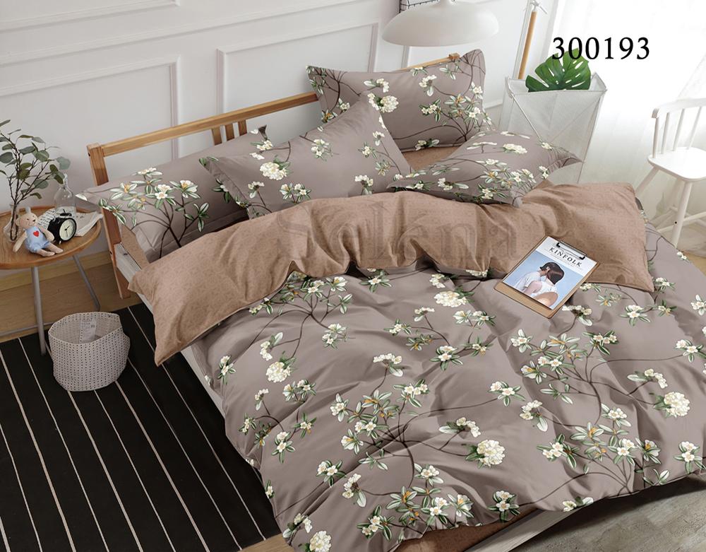 Комплект постельного белья Selena Сатин Летний вечер семейный 300193