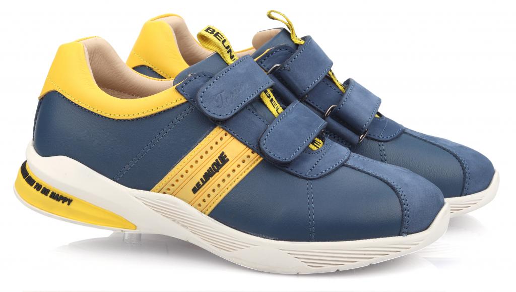 Topitop / Кроссовки TOPITOP 605 для мальчиков сине-желтые. Размер 21
