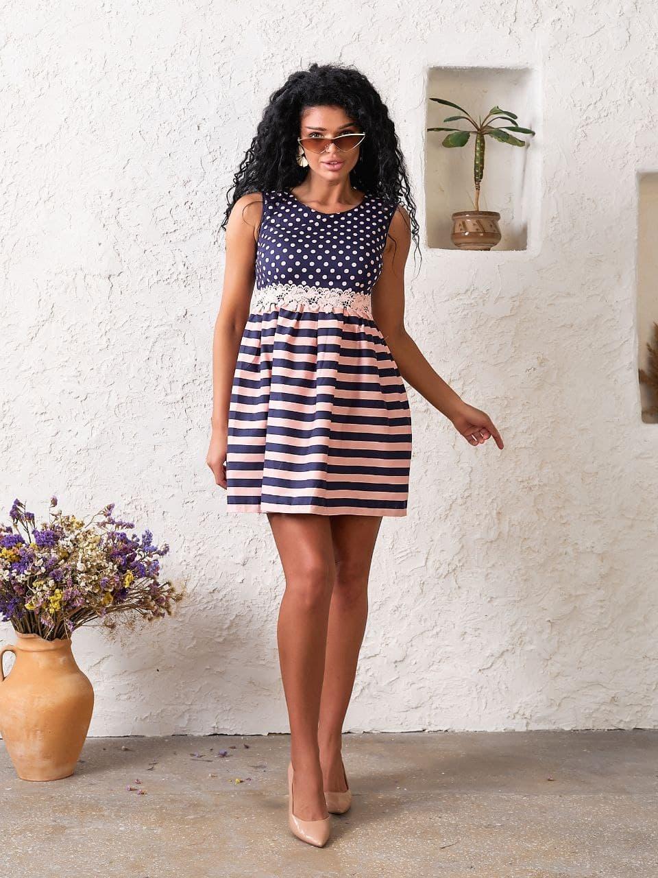 Платье Jaklin 7803 S Пудровое