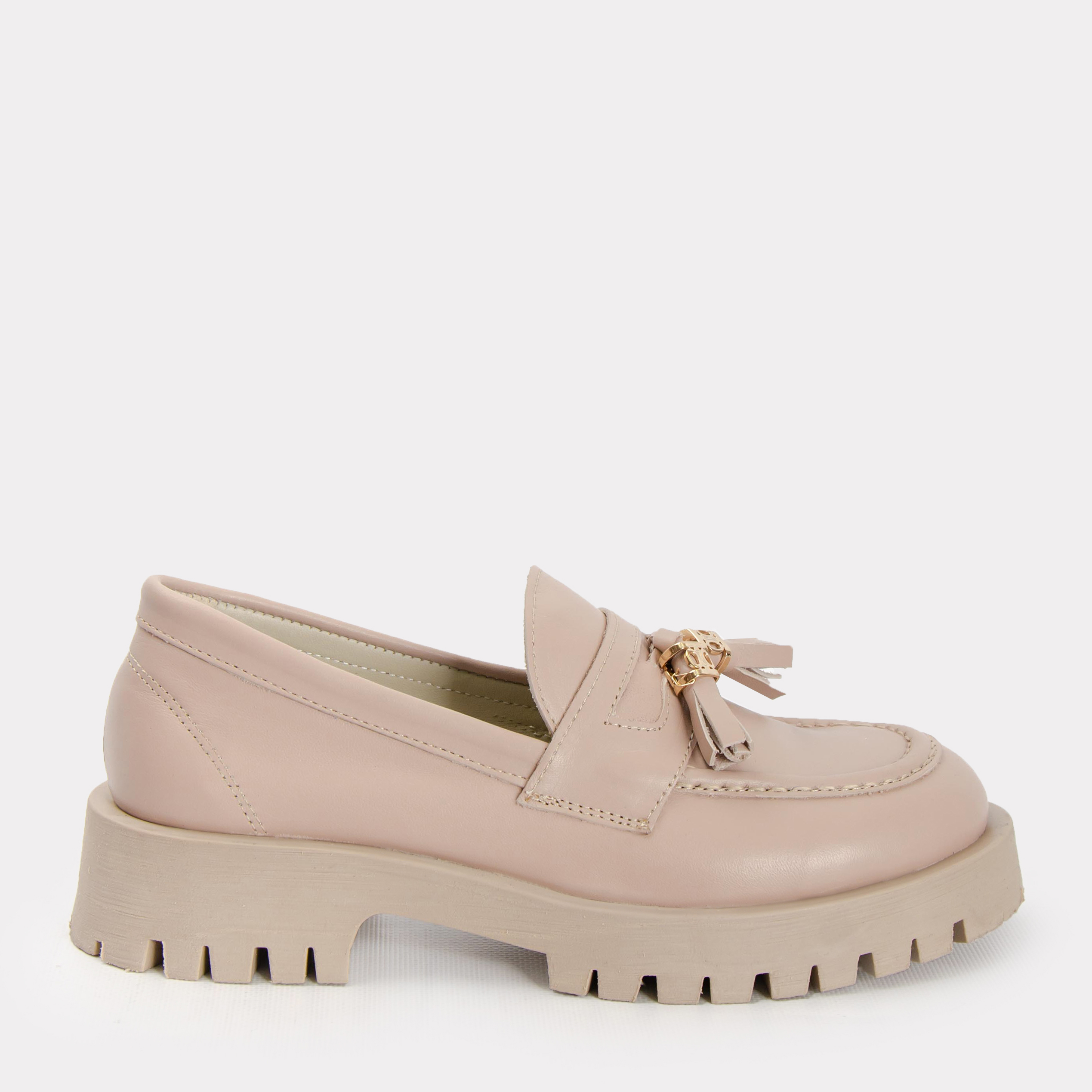 Лоферы Caruso Shoes Stacy 21-00533 39 25 см Бежевые (ROZ6400034726)