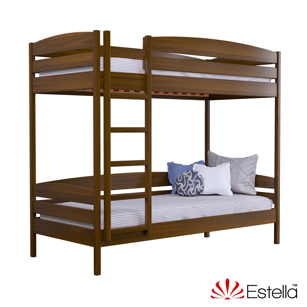Двухъярусная кровать Дуэт Плюс без ящиков Estella 90х190 103 - светлый орех Масив 2Л4