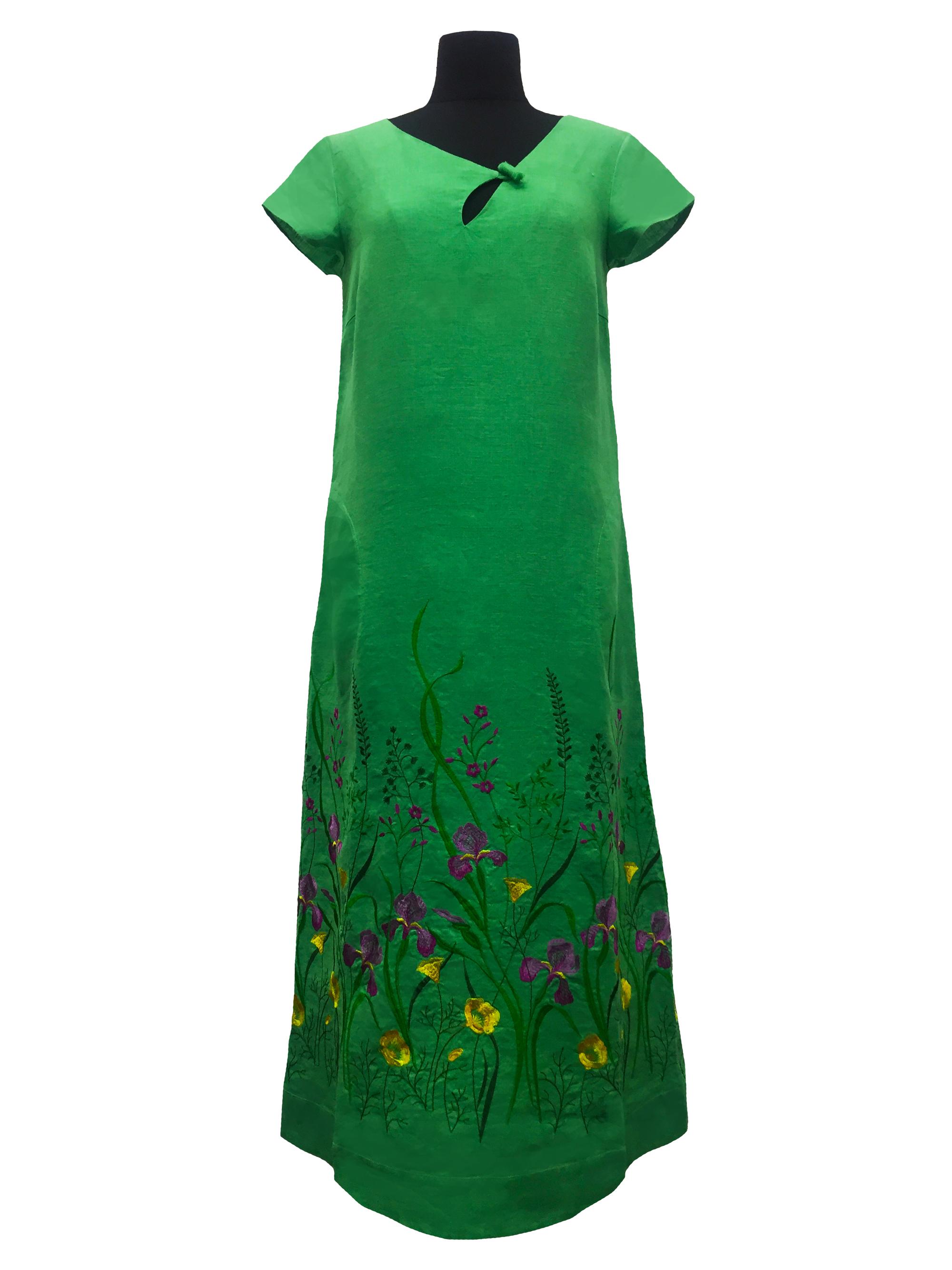 Галерея льна / Платье Галерея льону Мирослава зелена 44 0916/44/393