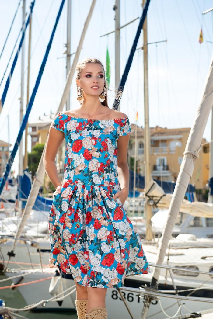 Женское платье с цветочным принтом AnastaSea 21A-232/3 SV 44(M) Цветной