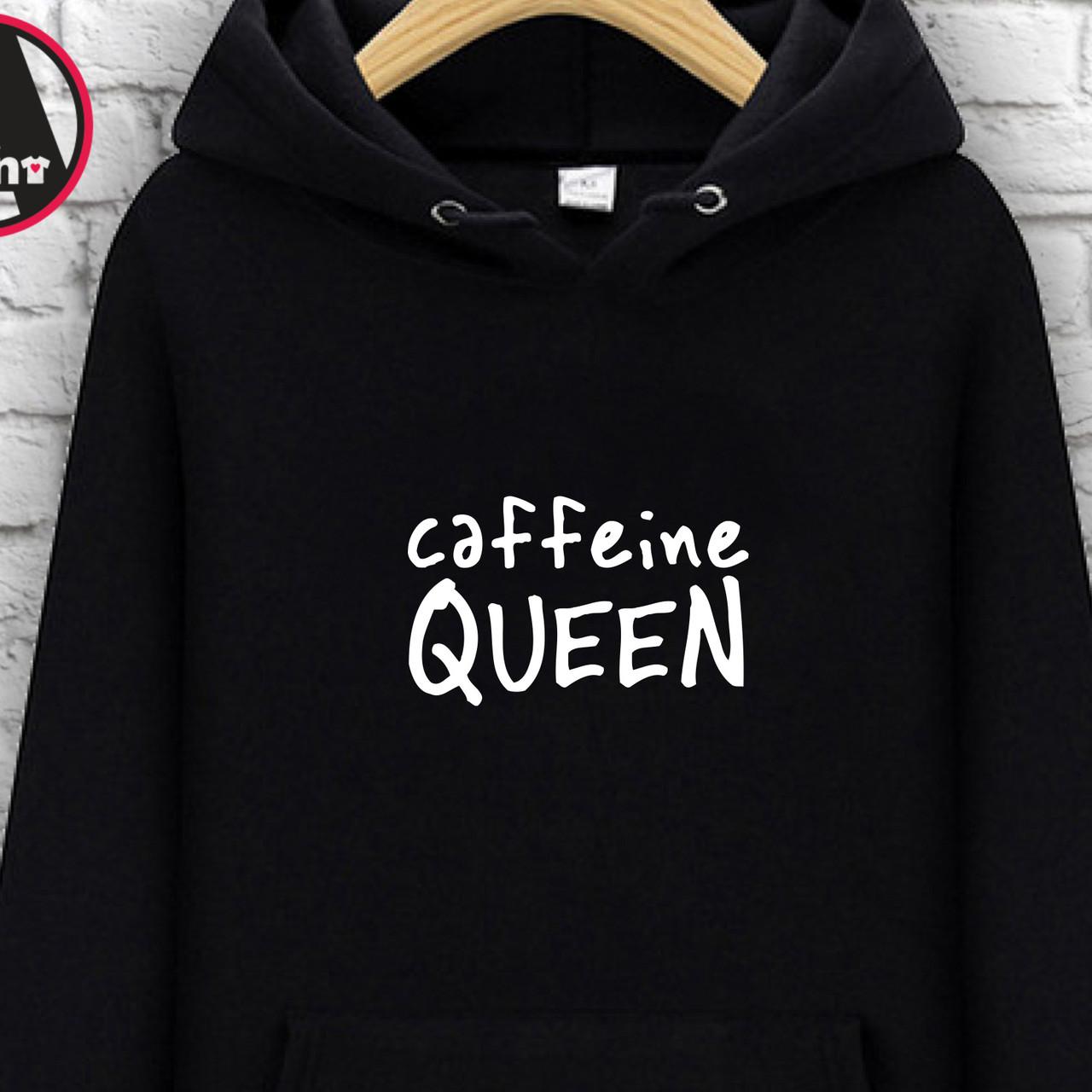 """Худи с принтом """"Caffeine queen"""" 3XL"""