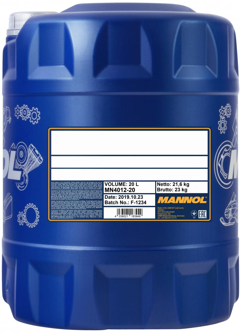 Антифриз Mannol Antifreeze AF12+ -40 °C 20 л Red (554/20)