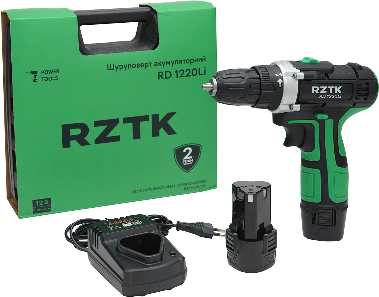Дриль-шурупокрут акумуляторний RZTK RD 1220Li