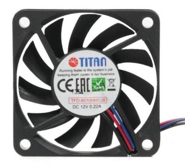 Охолоджувач Cooler for Case Titan 60x60x10мм, 3p/3c, 2-Ball, ультра-потік (TFD-6010HH12B)