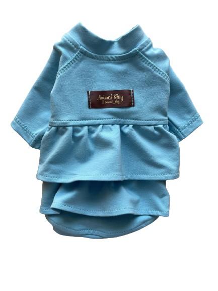 Платье худи для собак AnimalKlay Зефирка 2XS1 Голубое