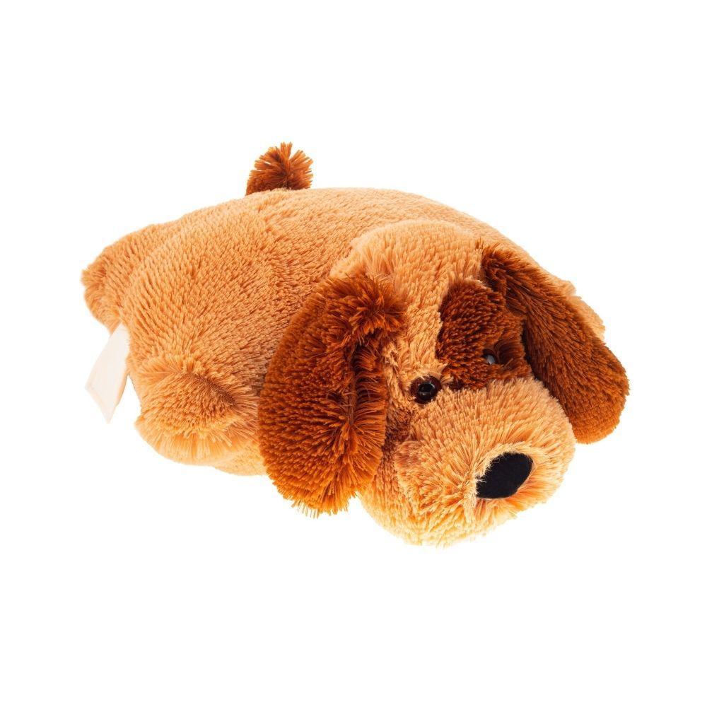 Подушка-игрушка для детей плюшевая Собачка Шарик 45 см Медовый подарок на день рождения, на 8 марта, на 14 февраля для девушки