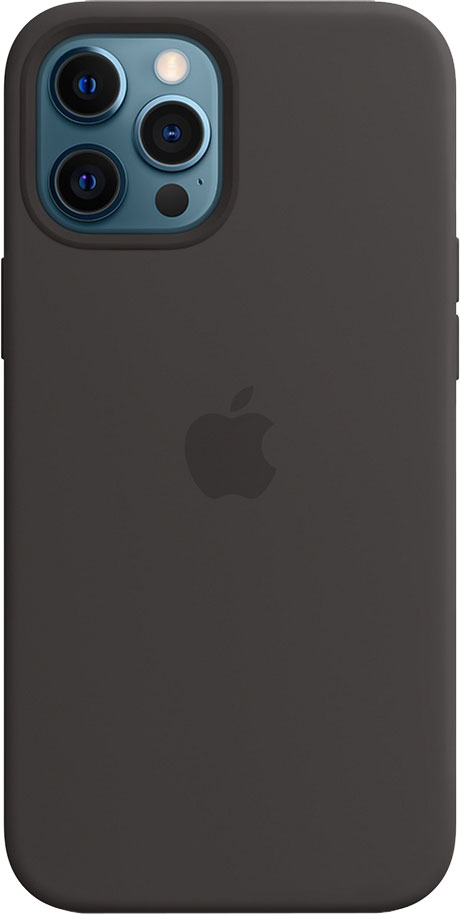 Панель Apple MagSafe Silicone Case для Apple iPhone 12 Pro Max Black (MHLG3ZE/A)