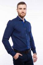 Рубашка мужская с мелким принтом Time of Style 204P1163 M Чернильно-голубой - изображение 3